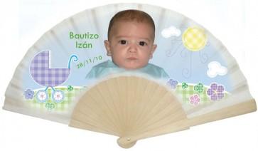 Detalles de Bautizo - Abanico personalizado
