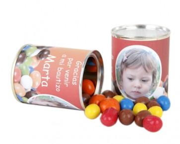 Cacahuetes cubiertos de Chocolate de colores para Bautizo