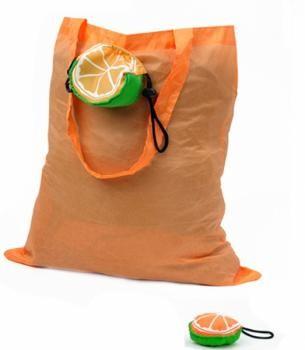 Bolsa plegabel naranja