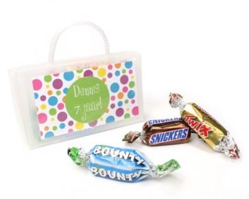 Mini chocolatinas variadas en bolsito de mano