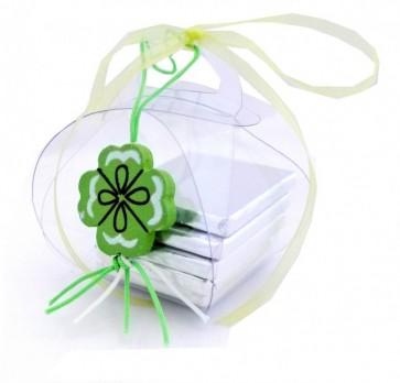 Cajita regalo con Chocolatinas y Colgante de la Suerte