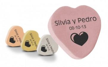 Caramelos Corazón Personalizados para Boda