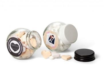 Caramelos en botecito de cristal