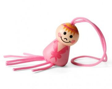 Colgante niña rosa