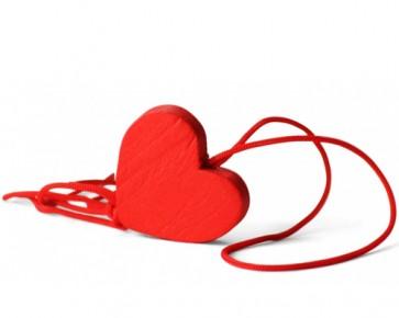 detalles de bautizo - colgante suerte amuleto corazon rojo