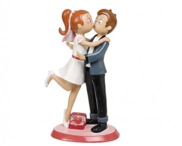 regalos de boda - figura tarta pastel nupcial novios yeye