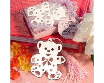 Regalos de Bautizo - Punto libro oso rosa