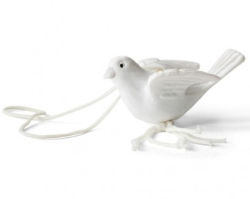 detalles de comunion - colgante suerte paloma