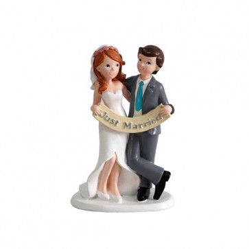 "Figura tarta de Boda ""Just Married"""
