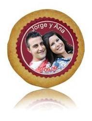 Galleta Personalizada con Foto Comestible para Boda