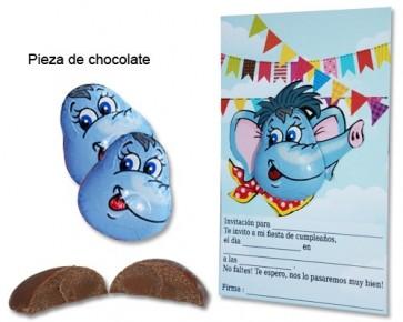 Invitación cumpleaños elefante