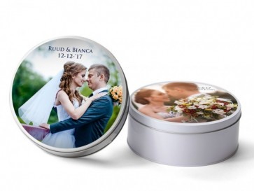 lata redonda con foto impresion boda
