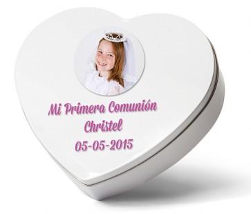 Latita corazón - Detalle comunión