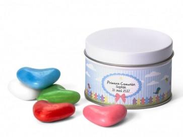 Latitas con Caramelos Corazones - Regalos de comunión