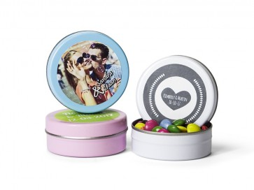 Mini chocolates en latita personalizada