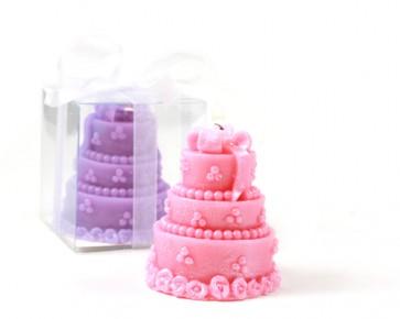 recuerdos de boda - vela tarta nupcial pastel novios
