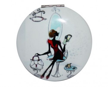 detalles de comunion - espejito bolsillo vintage silueta