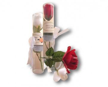 Rosa jabón en tubo - Detalles de Comunión