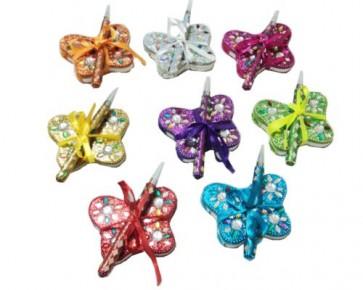 regalos de boda - set escritura mariposa