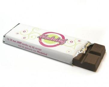 Tableta chocolate con envoltorio personalizado para Comunión