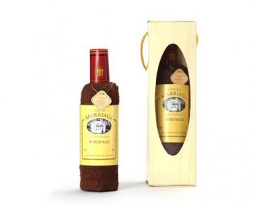 Toalla Botella de Vino para Boda