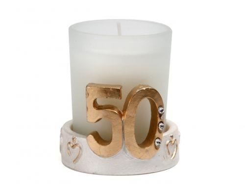 Vela 50 aniversario detalles de boda for Detalles de aniversario de bodas