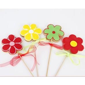 Detalles de Cumpleaños - Piruleta flor de galleta