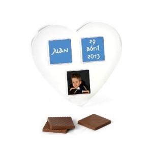 Blister corazón con 3 napolitanas chocolate