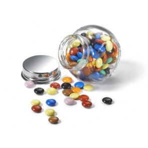 Mini Chocolates en botecito de cristal para Boda