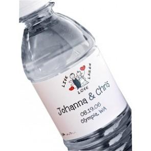 Botella de Agua con Etiqueta Personalizada
