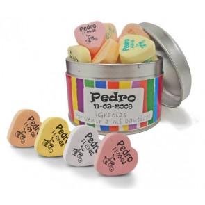 Caramelos personalizados en lata metálica - Detalles para comunión