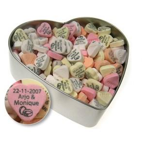 Caramelos de fruta en lata corazón para Bodas