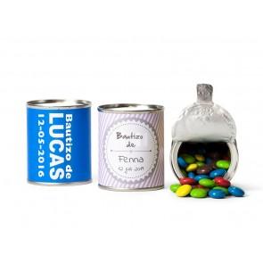 Mini Chocolates de Colores en lata abrefácil