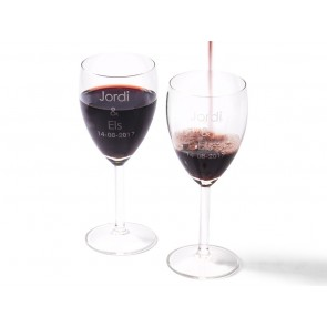 Set de Copas de Vino Grabadas