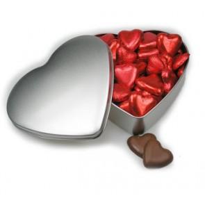 Detalles de comunión - Lata chocolates corazón