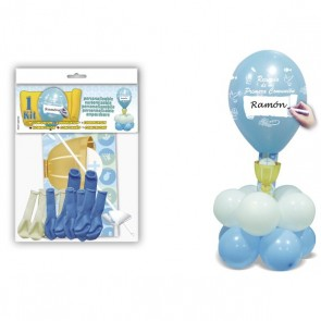 Kit globos caliz azul