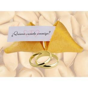 quieres casarte conmigo - galleta con mensaje - detalles de boda
