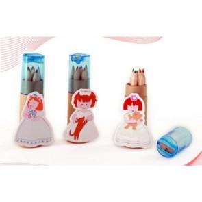 Lápices de colores con sacapuntas - detalles de comunión
