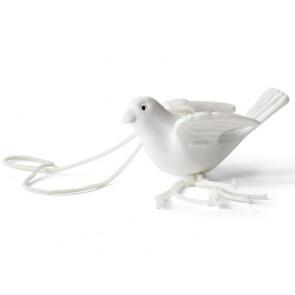 detalles de bautizo - colgante suerte paloma