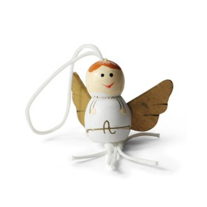 detalles y regalos de comunion - colgante amuleto suerte angel