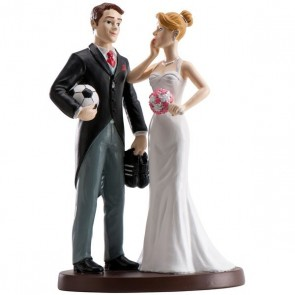 Figura tarta boda novios futbol