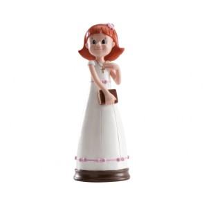 detalles comunion  - figura de tarta- niña pelirroja