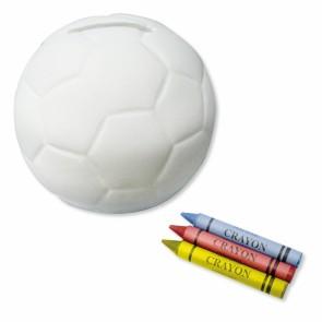 Hucha futbol para colorear - detalles comunión