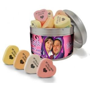 Caramelos de fruta en lata personalizada para Boda