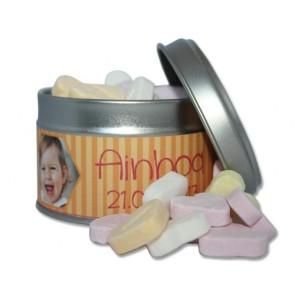 Caramelos de fruta en lata personalizada para Cumpleaños