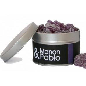Caramelos de violeta en lata personalizada para Boda