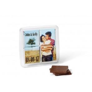 Puzzle de 4 napolitanas chocolate