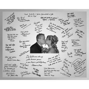 recuerdos de boda - espejo grande dedicatorias firmas