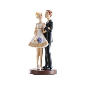 recuerdos de boda - figura tarta pastel nupcial novios estilizados
