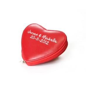 Regalos de Bautizo  - Set manicura corazon rojo impreso
